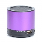 HS-X2 Rechargeable Aluminum Alloy Media Player Speaker w/ USB 2.0 / TF / FM - Purple + Black