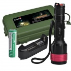 SingFire SF-315 600lm 5-Mode White Zooming Flashlight w/ Cree XM-L T6 - Black + Red (1 x 18650)