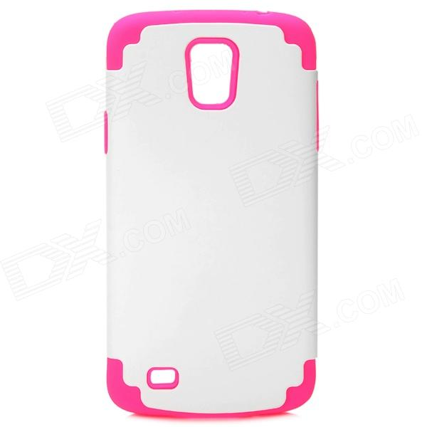 Protective Silicone + PC Case for Samsung i9295 - White + Deep Pink