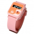 "Cityeasy 006 Mini 0.8"" Screen GPS GSM Wrist Watch Phone for Kids - Pink"