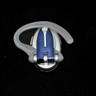 LY-H700-LANSE Stylish Bluetooth V2.1 Earphone w/ Microphone for Iphone 4S / 4 - Blue + Silver
