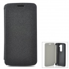Protective PU Leather Flip Open Case for LG Optimus G2 - Black