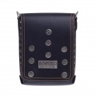 LIAWES SE10-8 Fashionable High-Grade Head Layer Cowhide Men's Business Bag - Black