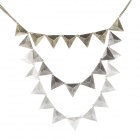 Retro Triangle Pendant Zinc Alloy Necklace for Lady - Bronze + Silver
