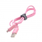 FSCABLE MP1 Micro USB Male to USB 2.0 Male Data Sync / Charging Cable for Samsung / HTC - Pink