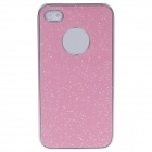 Fashionable Shiny Protective Plastic Back Case for Iphone 4 / 4S - Pink + Silver