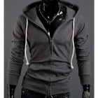 Fashionable Slim fit Fleece Hooded Cardigan for Men - Grey (Size-XL)