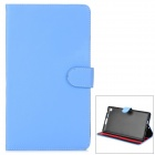 Ultrathin Protective PU Leather Case w/ Sleep Function for Google Nexus 7 II - Blue + Black