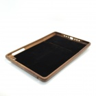 ZY-111 Retro Cassette Pattern Protective Walnut Wood Back Case for Ipad MINI - Brown