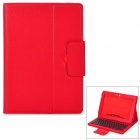 "Bluetooth Keyboard Case for Samsung Galaxy 10.1"" N8000 / N8010 - Red"