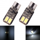 T10 2W 96lm 4 x SMD 5630 LED 2-Mode White Light Flash ErrorFree Canbus Car Lamps - (DC 12V / 2 PCS)