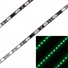 27W 2160lm 492nm 90-SMD 5630 LED Green Light Car Decoration Strip Lamp - Black (90cm / 2 PCS / 12V)