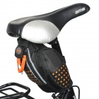 Outdoor Cycling Bicycle Saddle Bag - Black + Orange