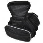 Outdoor Cycling Non-woven Fabric Bike Top Tube Double-Storage Bag - Black
