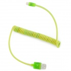 USB Male to 8 Pin Lightning Flexible Flashing Charging Data Cable for iPhone 5 + iPad 4 - Green