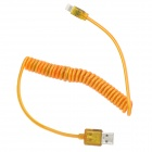 USB-Stecker auf 8 Pin Blitz Flexible Blinken Aufladen Datenkabel für iPhone 5 + iPad 4 - Orange