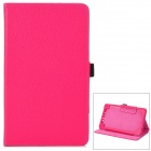 Ultradünne Protective PU Ledertasche w / Sleep-Funktion für Google Nexus 7 II - Deep Pink