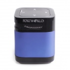 PORTWORLD AJ-82 Portable Bluetooth V2.1 Speaker w/ Hands-free / LED Flashlight - Blue + Black