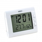 MIEO HH622 Alarm Thermometer & Hygrometer with Night Light - White