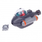 ACTION-AIR 0-83 Submarine Style Aquarium Decoration - Grey + Orange