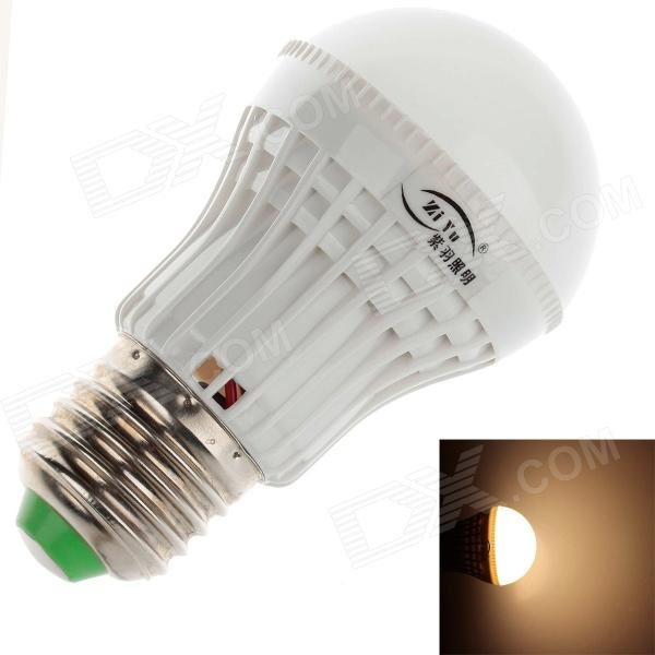 ZIYU ZY-QP-051 E27 3W 200lm 3500K 9 x SMD 2835 LED Warm White Light Bulb - White + Silver (220V)