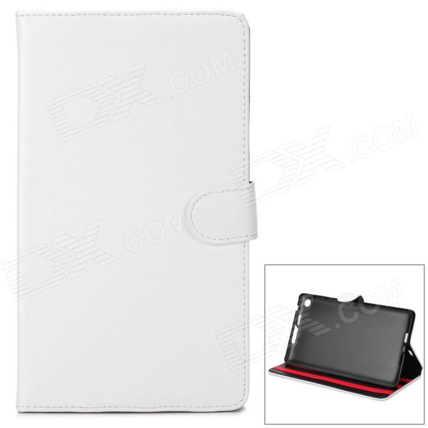 Protective PU Leather Case for Google Nexus 7 II - White