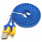 USB-zu-8-Pin Blitz Data / Laden Woven Nylon-Kabel für iPhone 5 / iPad Mini / 4 - Blau