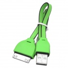 USB to 30-Pin Data/Charging Cable for iPhone 4 / 4S - Green + Black