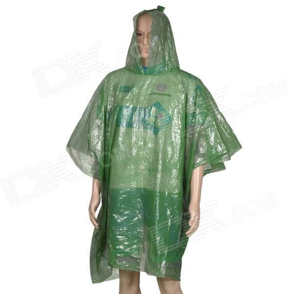 NUCKILY H572 Outdoor Camping Disposable Nylon Raincoat / Rainwear - Green