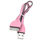 USB to 30-Pin Data/Charging Cable for iPhone 4 / 4S - Pink + Black