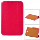 XUNDD Protective PU Leather + Plastic Case for Samsung N5100 Galaxy Note 8.0 - Purple Red