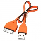 USB to 30-Pin Data/Charging Cable for iPhone 4 / 4S - Orange + Black