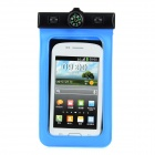 Stylish PVC + Plastic Waterproof Bag w/ Strap / Compass for Samsung S4 i9300 S3 i9100 - Blue