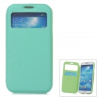 Stylish Flip-Open PU Leather Case w/ Card Slot for Samsung Galaxy S4 - Green