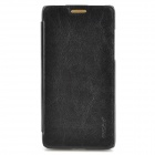 PUDINI Protective PU Leather Flip Open Case for HTC 606W - Black