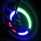 WT-602 Silicone Bicycle Wheel Flashing Light - White
