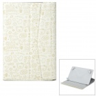 "Cartoon Style Protective PU Leather Case for 7"" Tablet PC - Beige"