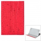 "Cartoon Style Protective PU Leather Case for 7"" Tablet PC - Red"