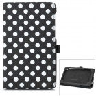 Polka Dot Style Protective PU Leather Case for Google Nexus 7 II - Black + White