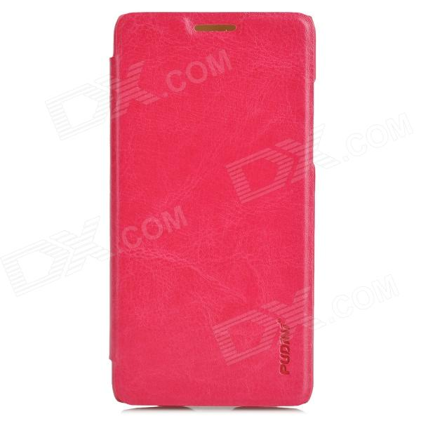 PUDINI Protective PU Leather Flip Open Case for HTC 606W - Deep Pink