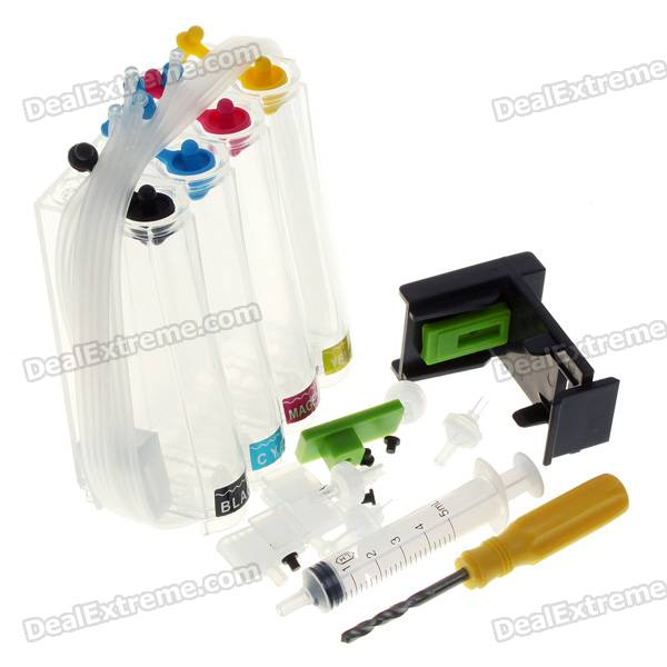 Universal Color Ink Jet Cartridge Set for HP Prints