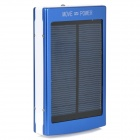 15000mAh Solar Powered Emergency Battery Charger w/ Double USB Port + LED Light - Blue + White