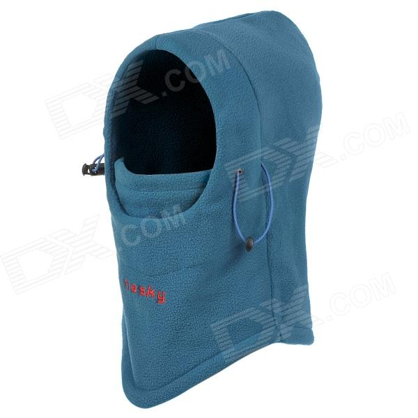 Hasky Outdoor Sports Windproof / Warm Adjustable Polar Fleeces Face Mask / Hat - Blue protective outdoor war game military skull half face shield mask black