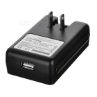 "0.7"" LCD USB US Plugs AC Power Universal Battery Charging Dock - Black"