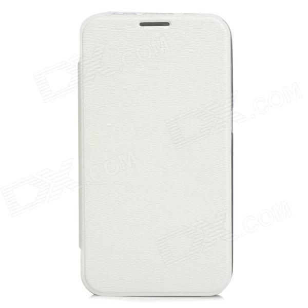 Protective PU Leather Flip Open Case for Samsung i9220 - White protective pu leather top flip open case for samsung i9220 black