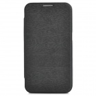 Protective PU Leather Flip Open Case for Samsung i9200 - Black