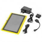 "Q8 7"" Android 4.2 Tablet PC w/ 512MB RAM / 4GB ROM / Dual Camera - Yellow + Black"
