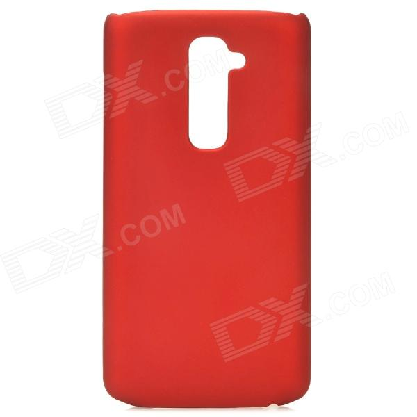 Stylish Protective PC Back Case for LG Optimus G2 - Red s style protective tpu back case for lg g2 optimus g fluorescent red