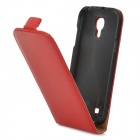 Stylish Up-Down Flip-Open PU Leather Case for Samsung i9190 S4 Mini - Red