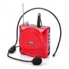 Shinco H-02 Portable Voice Amplifier Loudspeaker w/ FM Radio + TF Card Slot - Red + Black